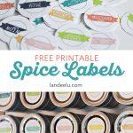 Kitchen Organization: Printable Spice Labels