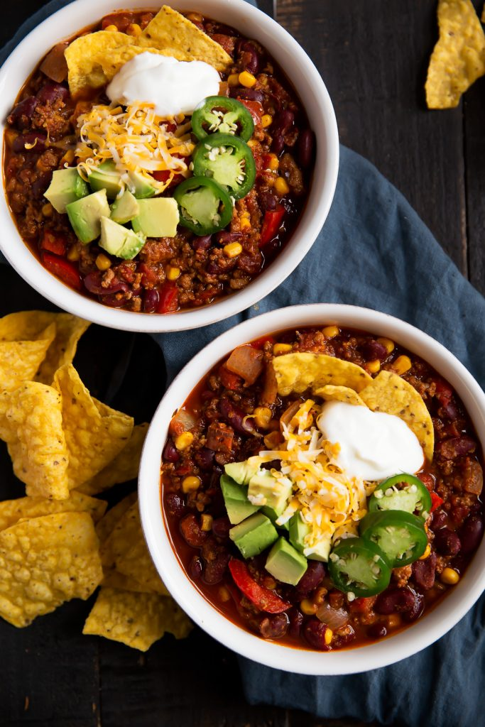 The Best Healthy Turkey Chili Recipe via Ambitious Kitchen