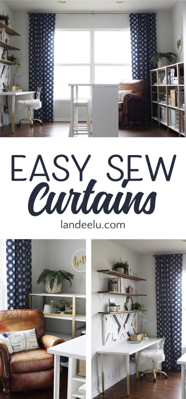 Anyone who can sew a straight line (straight-ish line) can make these easy sew curtains! Make curtains yourself that are completely custom AND a fraction of the cost of store bought curtains!
