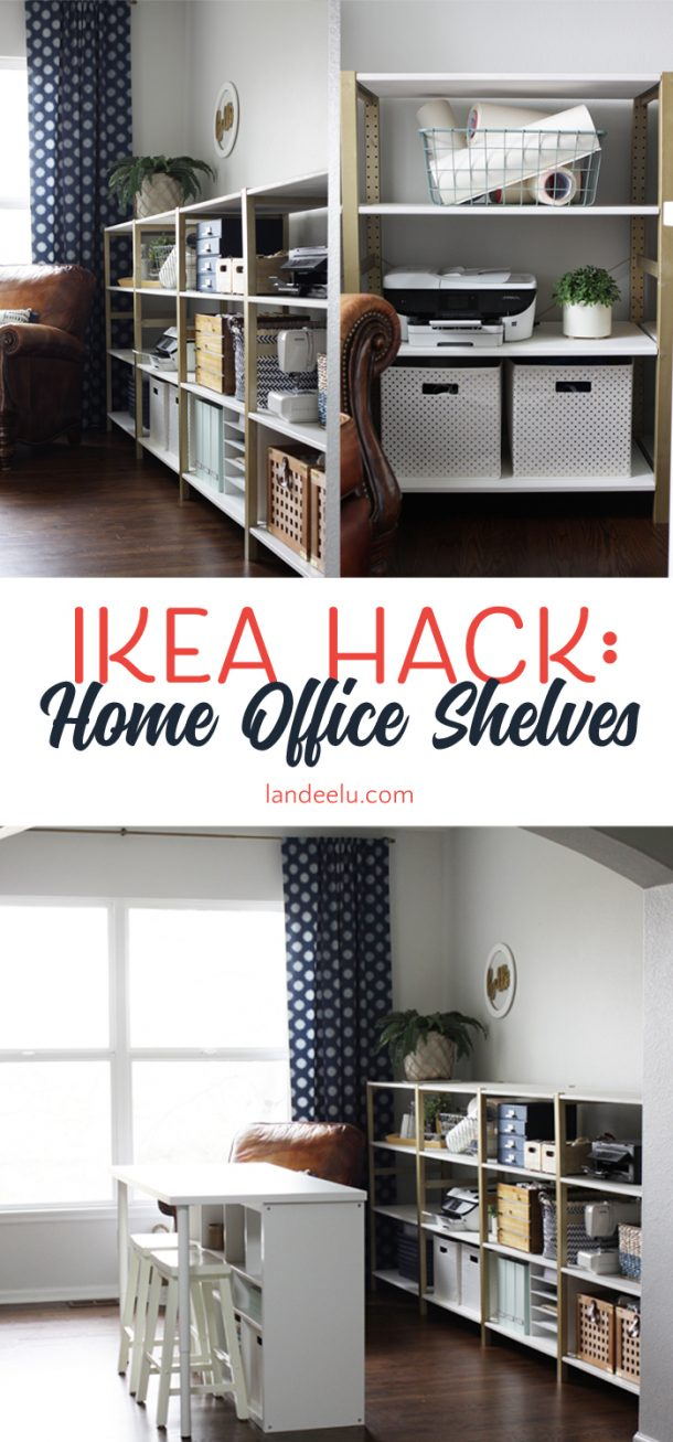 Ikea hack ivar home office shelves for Ikea ordine