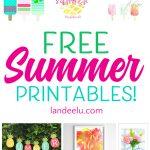 Free Summer Printables to Make Summer Fun!