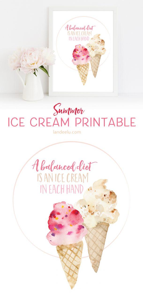 Darling ice cream printable! And it's so true! I love ice cream!
