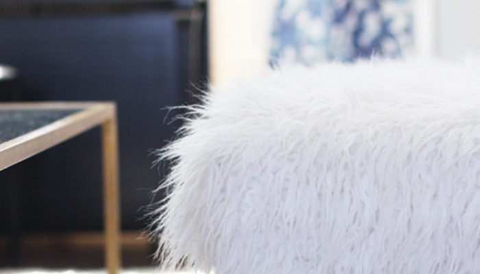 DIY Bench Makeover: Faux Fur