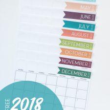 2018 Free Printable Calendar– Get Organized!