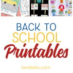 20 Awesome Back to School Printables