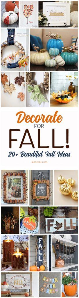 Over 20 beautiful DIY fall decorations!