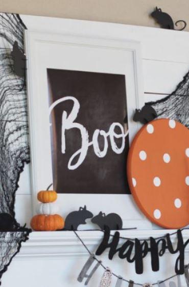 Boo Halloween Chalkboard Art Free Printable Decoration