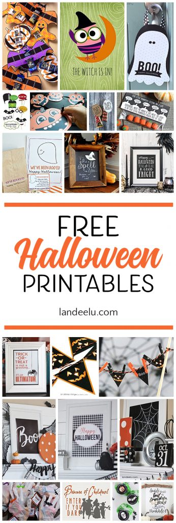 Tons of free Halloween printables to spookify your Halloween decor!