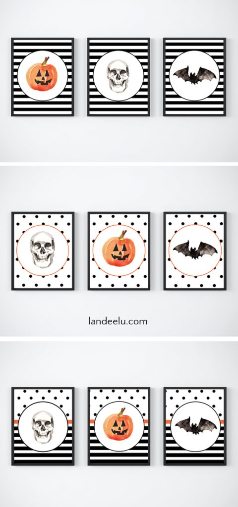 Adorable free mix and match Halloween printables to spookify your Halloween decor!