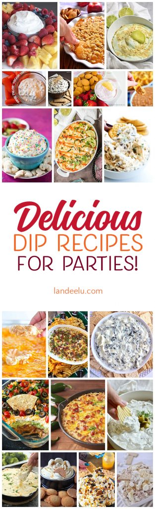 These dip recipes look amazing! Fantastic party food ideas!
