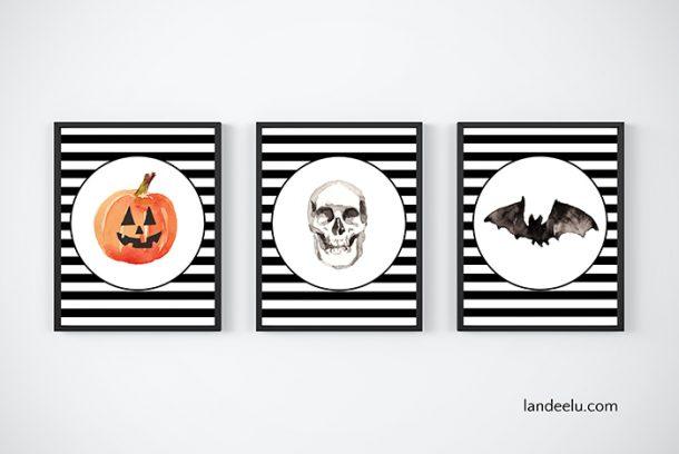 Adorable striped Halloween printables!