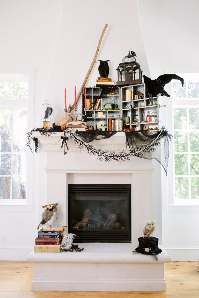 Decorating Your Halloween Mantel (with items you already have!) | Handmade Mood