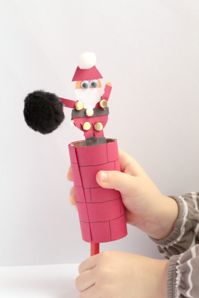 Help Santa Down the Chimney Craft   Sight and Sound Reading