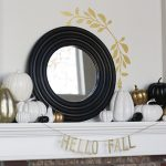 Beautiful Neutral Fall Decorations: Gold, White and Black