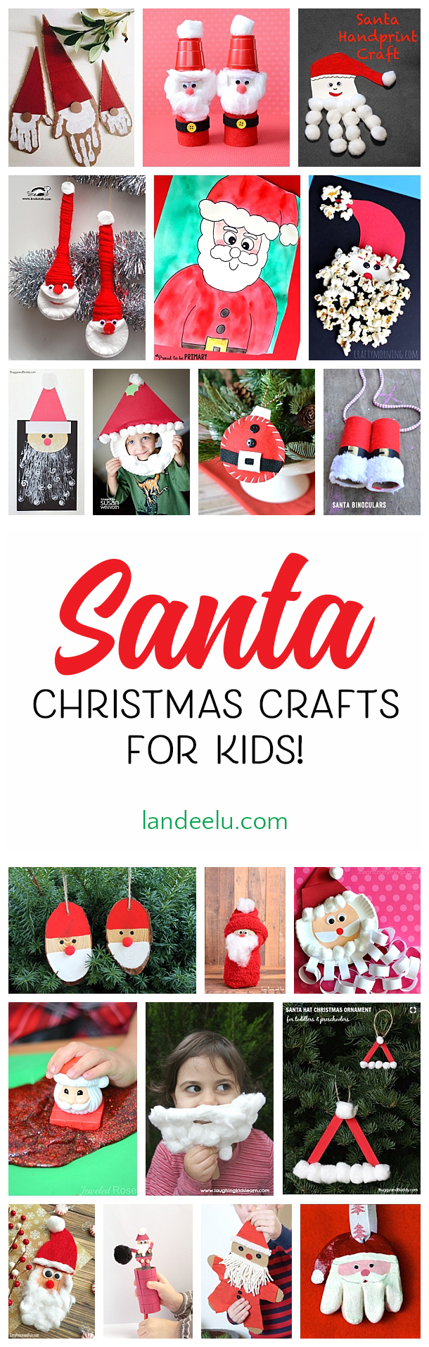 I love these Santa Christmas crafts for kids! My favorite is the cute ornament!