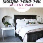 DIY Accent Wall Idea: Gold Sharpie Paint Pens