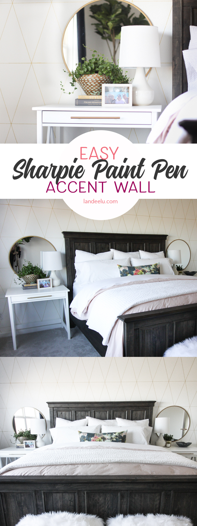Super easy and fun accent wall idea to liven up a space!