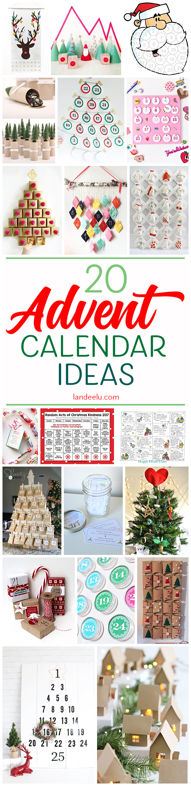 20 Advent calendar ideas to make this holiday season!