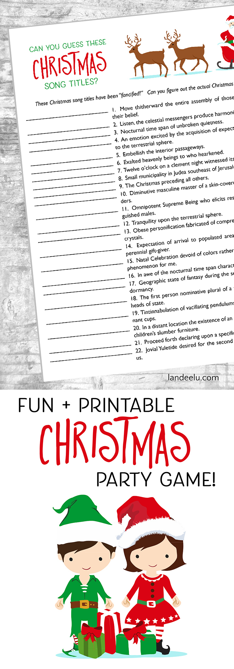 graphic about Christmas Caroling Songs Printable called Xmas Game titles: Bet Individuals Xmas Tunes! -