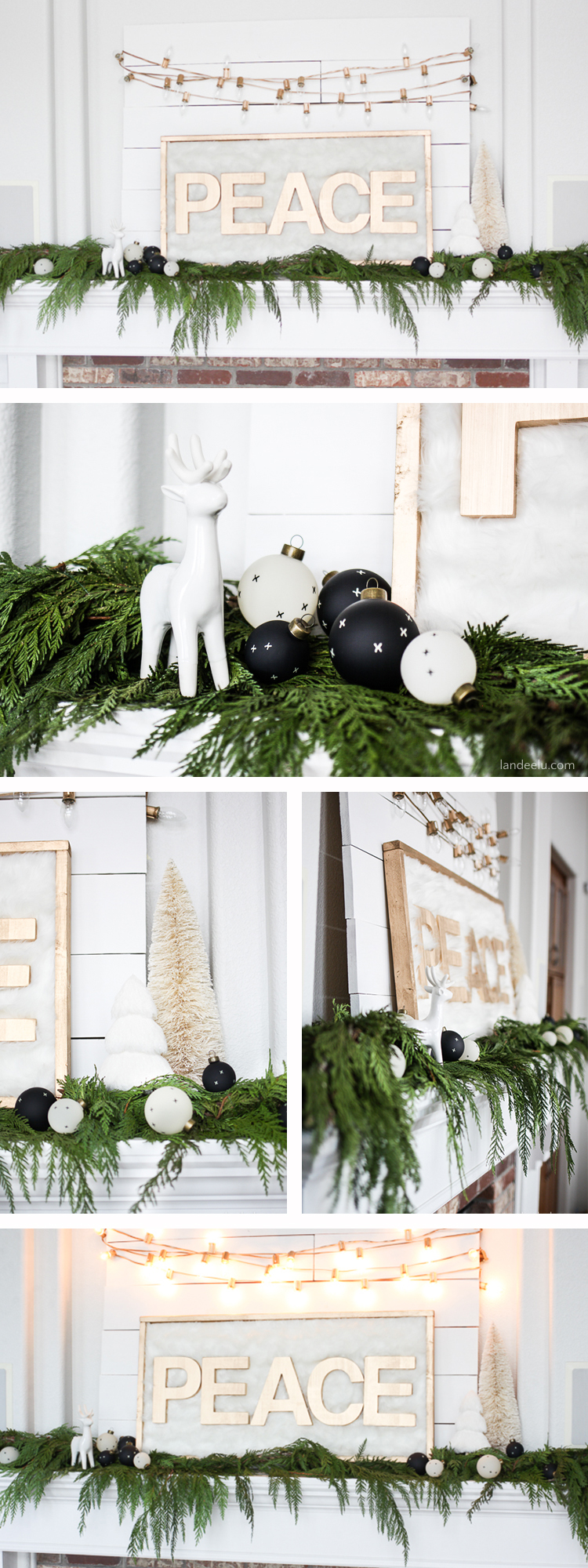 Beautiful and simple decor.... and I LOVE fresh Christmas garland!