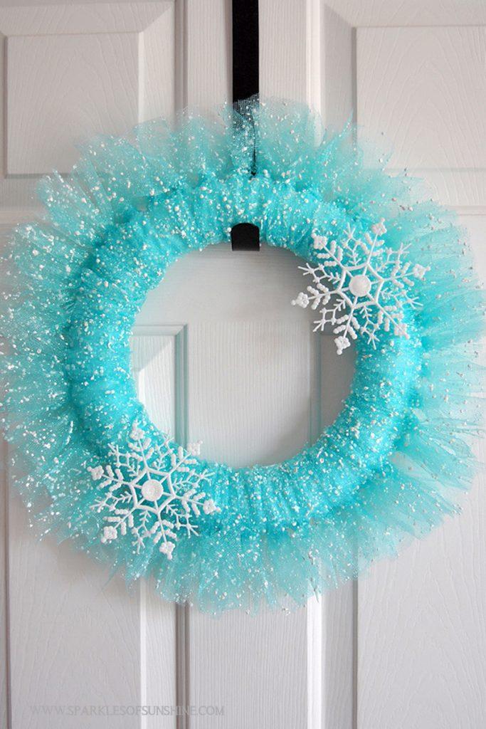 Pretty Winter Wonderland DIY Wreath Tutorial   Sparkles of Sunshine