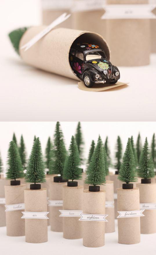 Toilet Paper Rolls + Trees DIY Advent Calendar   Morning Creativity