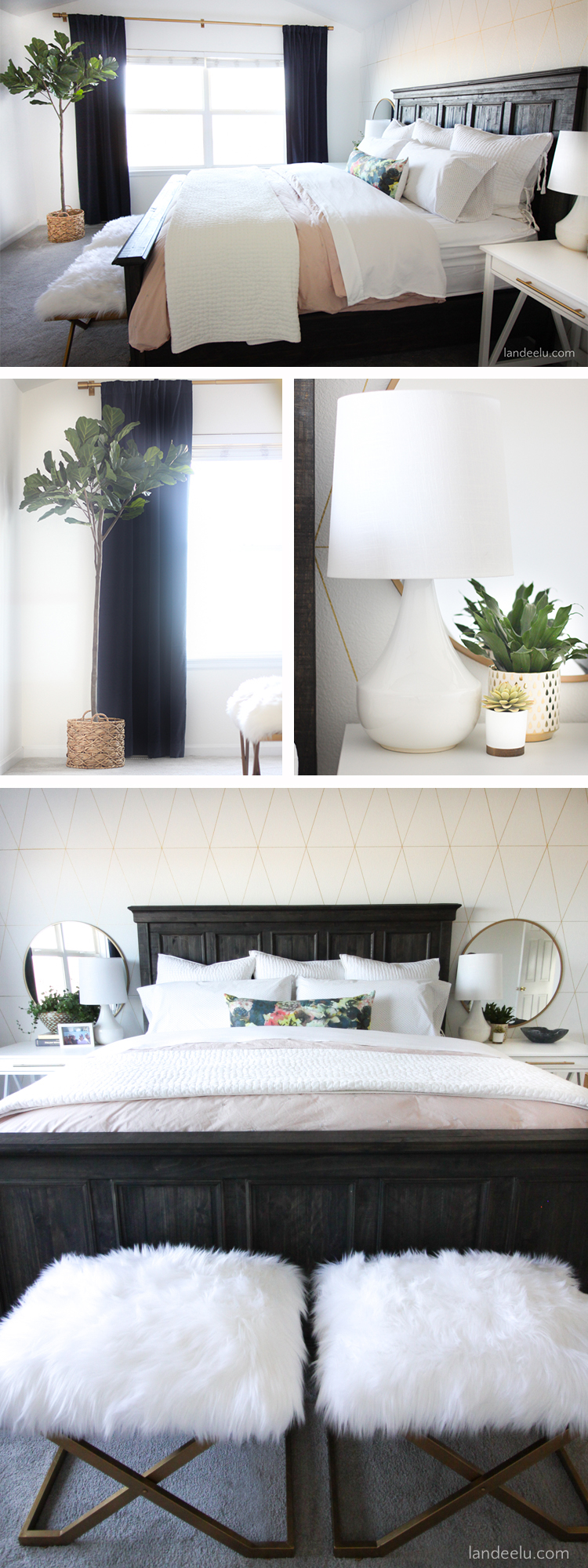 Love these master bedroom ideas! So fresh and happy!