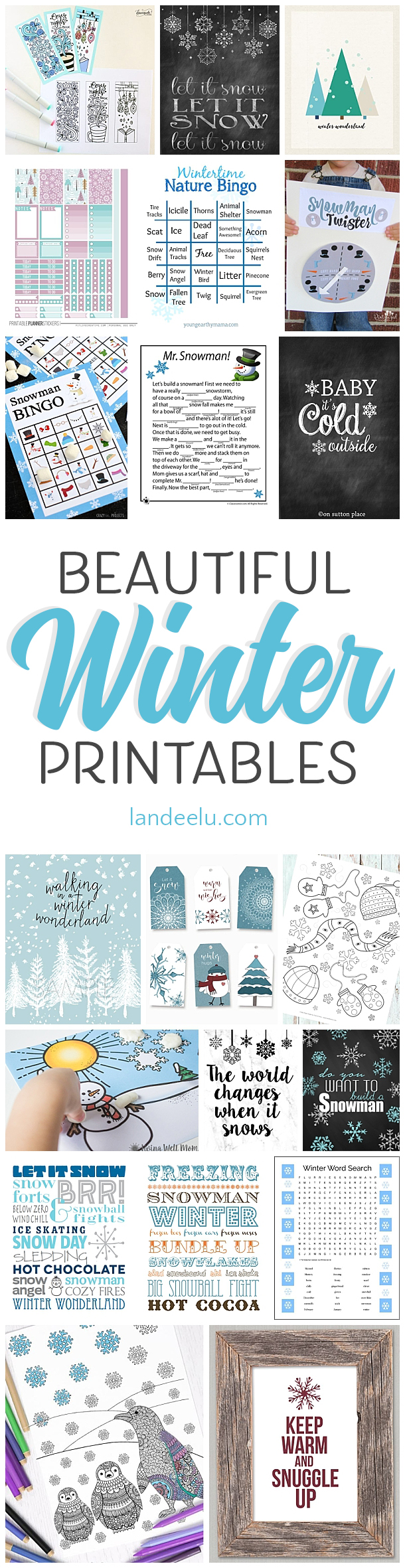Love these winter theme printables! Too fun!