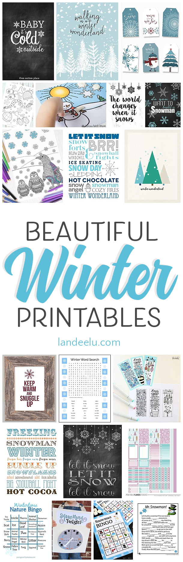 SO many winter theme printables! And they are all free!