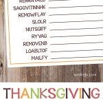 Thanksgiving Worksheet: Word Scramble!