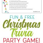 Fun Printable Christmas Trivia Game Perfect for Christmas Parties!