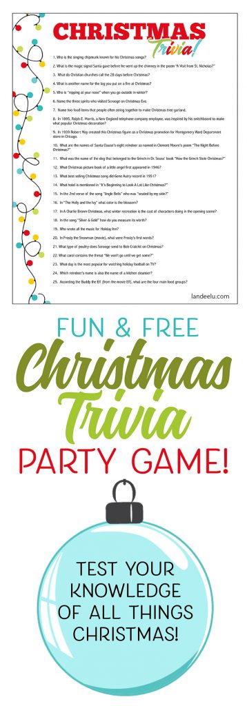 This is an image of Declarative Printable Trivia Game