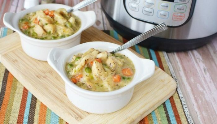 Instant Pot Chicken Dumplings Recipe