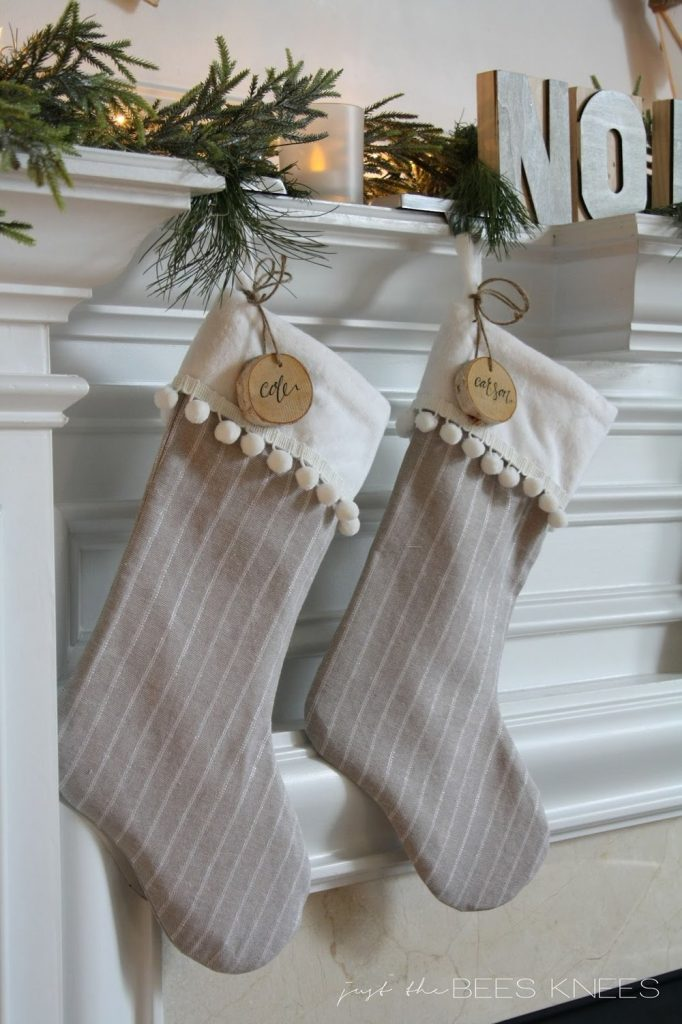 DIY Pom Pom Trim Christmas Stocking Tutorial | Sarah Langtry