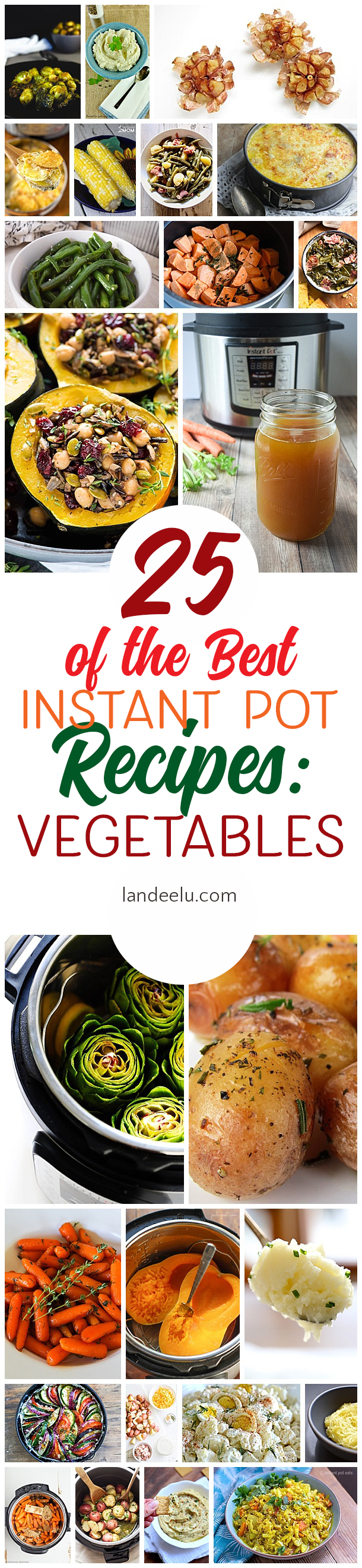 The best instant pot recipes for yummy vegetables! Can't wait to try these! #instantpot #instantpotrecipes #pressurecookerrecipes #pressurecooker #vegetablerecipes #veggies