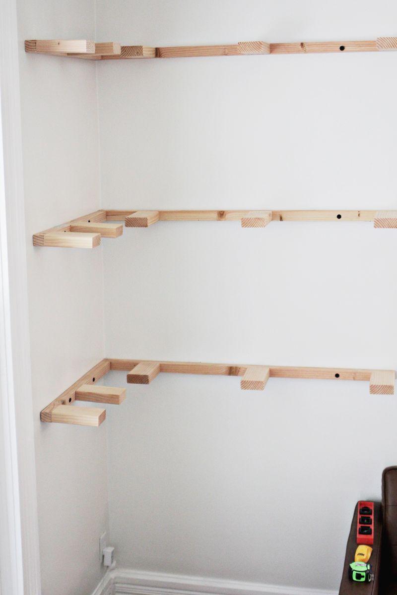 DIY Floating Corner Shelves | A Beautiful Mess
