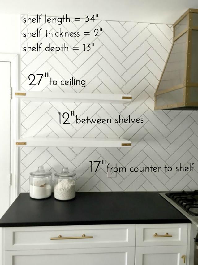 DIY Floating Kitchen Shelves | Emily a Clark