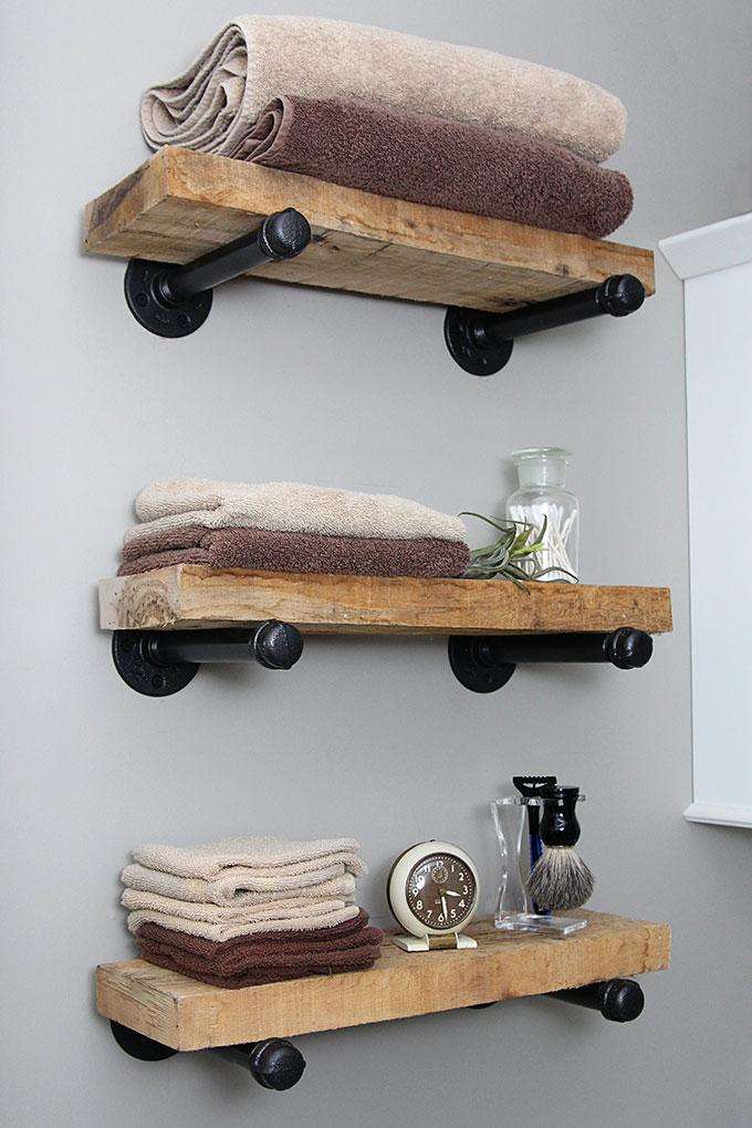 DIY Industrial Pipe Shelves | House of Hawthornes