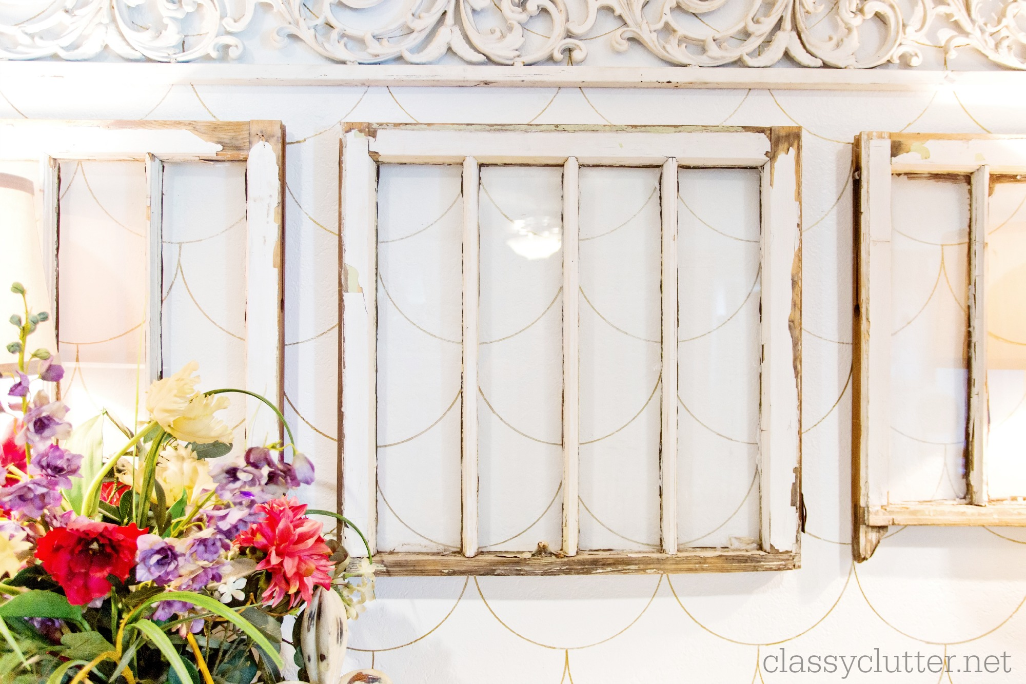 DIY Scalloped Accent Wall | Classy Clutter