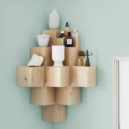 DIY Solid Wood 3D Shelf | Lushome