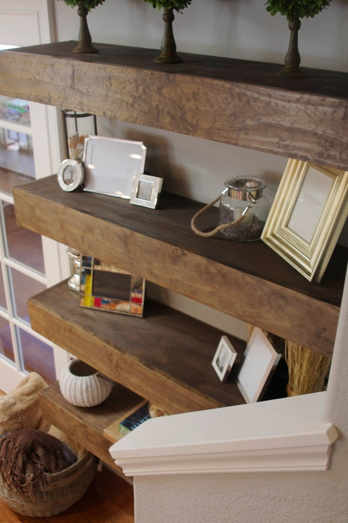DIY Wide Floating Shelves | Simply Organized