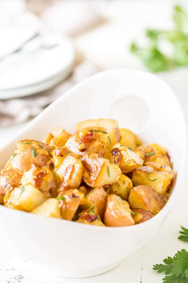 Instant Pot Bacon Ranch Potatoes | Sweet and Savory by Shinee