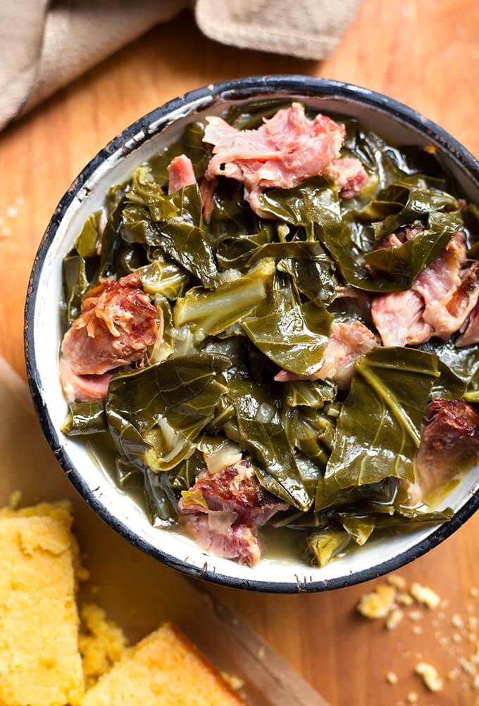 Instant Pot Collard Greens | Simply Happy Foodie