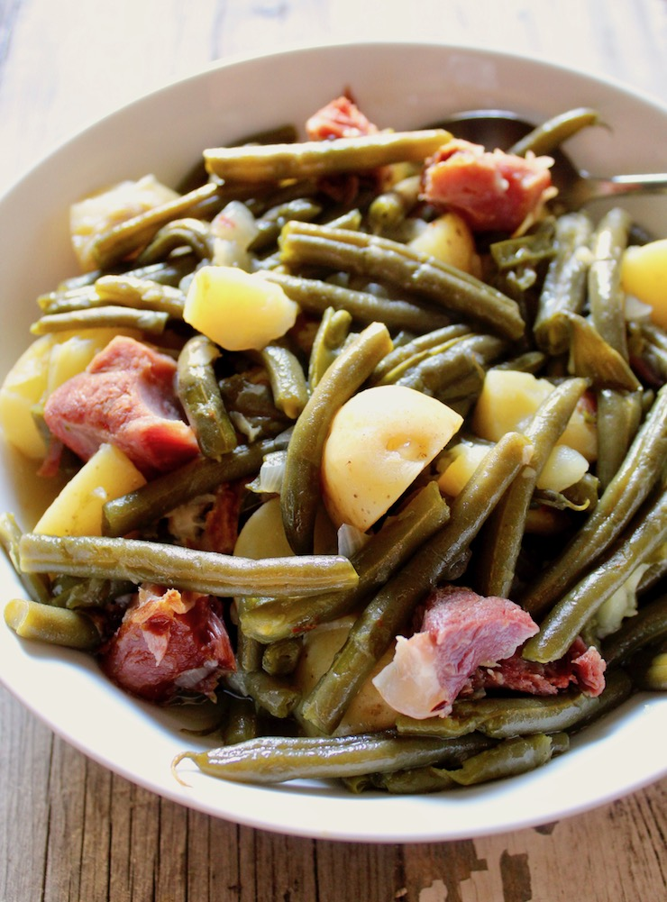 Instant Pot Country Green Beans, Potatoes, and Ham | The Hungry Blue Bird