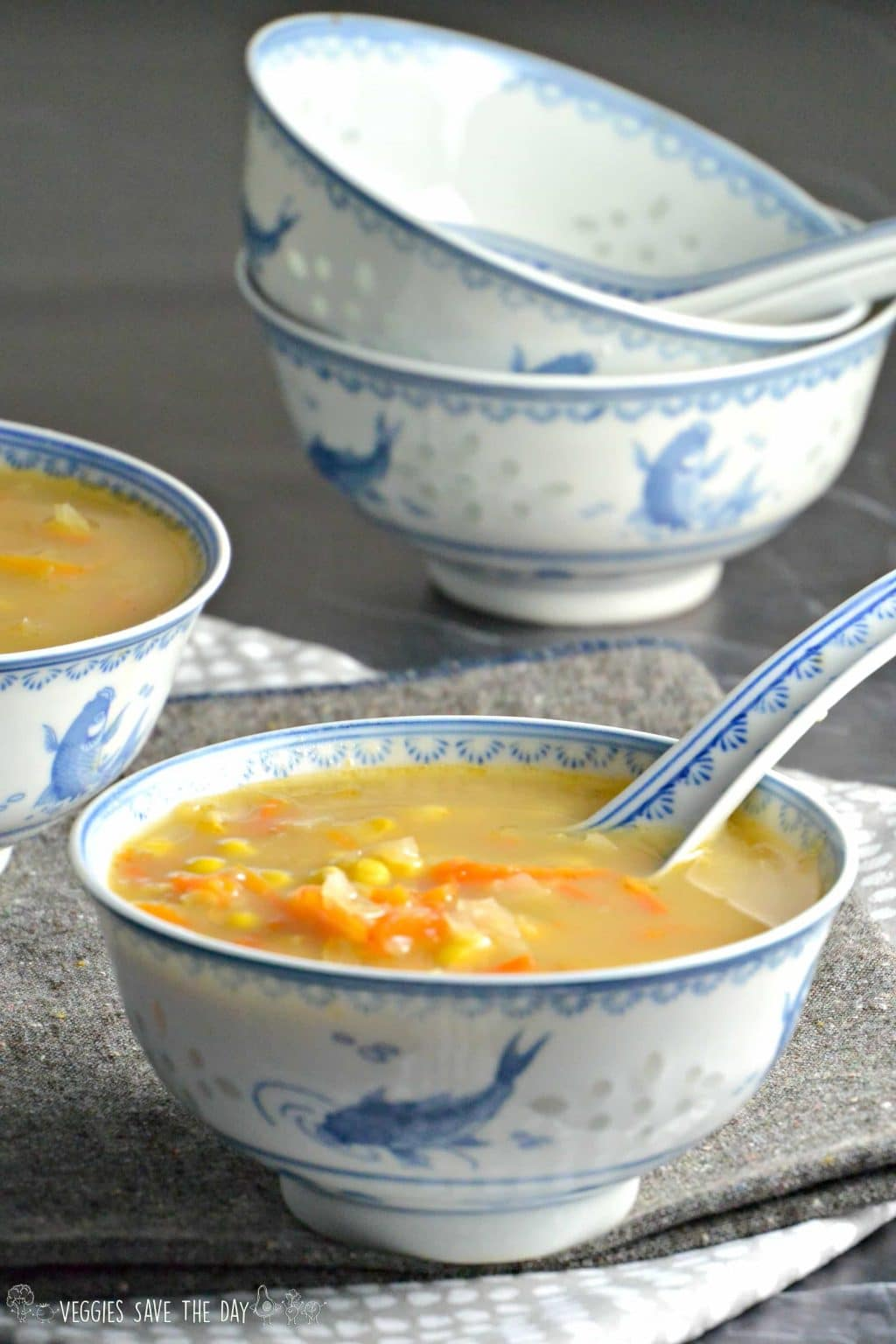 Instant Pot Indo-Chinese Corn Soup | Veggies Save the Day