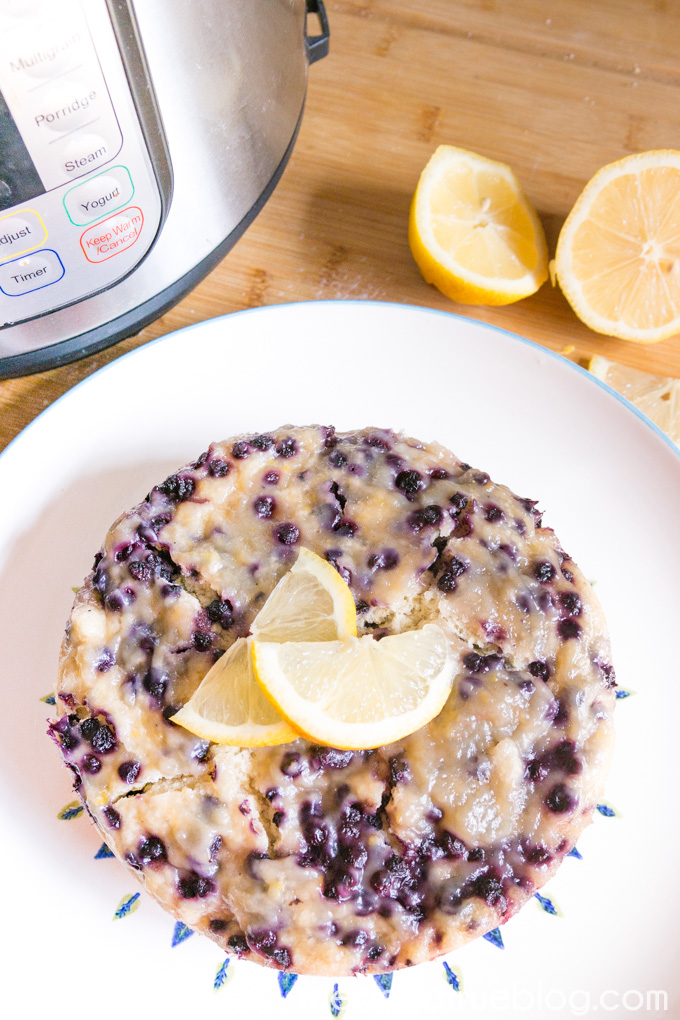 Instant Pot Lemon Blueberry Breakfast Cake | Tried and True