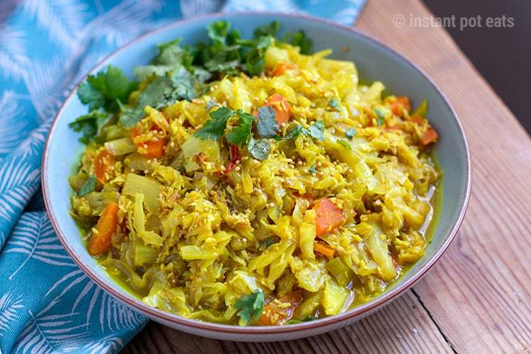 Instant Pot Siri Lankan Coconut Curry Cabbage | Instant Pot Eats