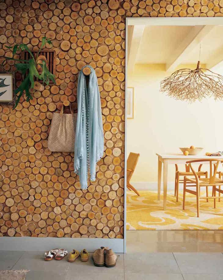 Wooden Rings Accent Wall | Martha Stewart