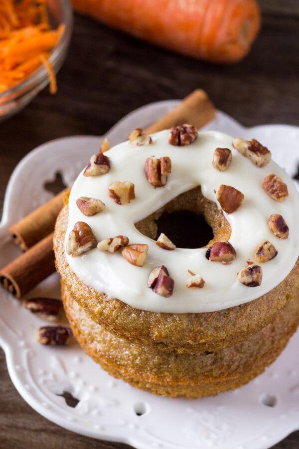Carrot Cake Doughnuts | Just so Tasty