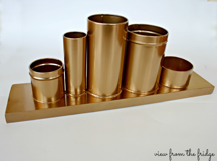 DIY Golden Pencil Holder | View From the Fridge